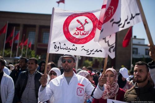 Marruecos: Cientos de profesores se manifiestan exigiendo un puesto en…