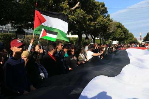 Las escuelas tunecinas se solidarizan con Palestina