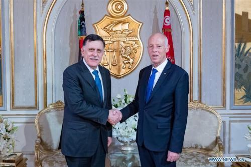Los líderes de Libia y Túnez discuten las relaciones bilaterales