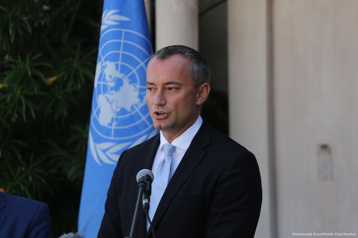 Nikolay Mladenov, Coordinador Especial de las Naciones Unidas para el Proceso de Paz en Oriente Medio, asiste a una conferencia de prensa en Gaza el 25 de septiembre de 2017 [Mohammed Asad / Monitor de Oriente Medio]