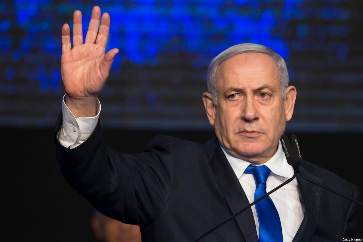 El primer ministro israelí Benjamin Netanyahu en Tel Aviv el 17 de noviembre de 2019 [Amir Levy / Getty Images]