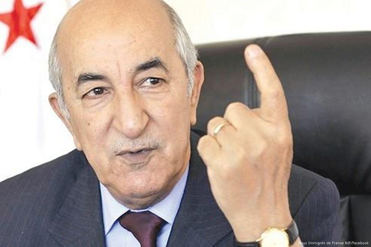 Imagen del primer ministro argelino Abdelmadjid Tebboune [Algérie currículum de información / Facebook]