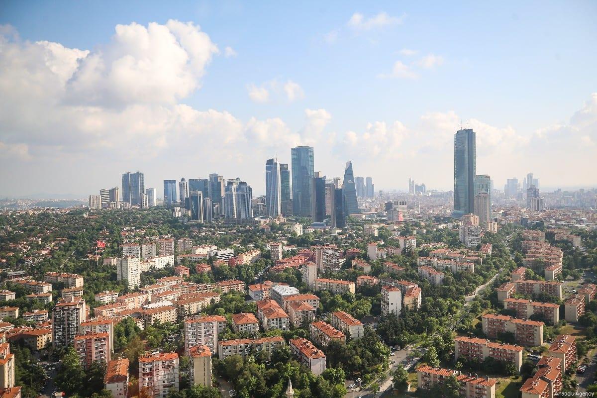Una vista aérea del distrito de Levent de Estambul, Turquía, el 09 de junio de 2019 [Muhammed Enes Yıldırım / Agencia Anadolu]