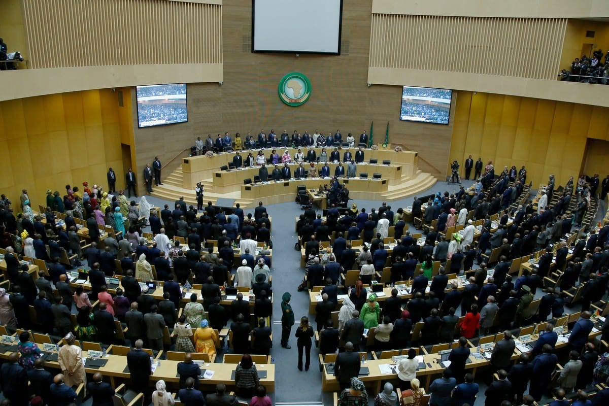 Una vista desde la sesión de apertura de la 33ª Cumbre de Jefes de Estado de la Unión Africana en Addis Abeba, Etiopía, el 9 de febrero de 2020 [Agencia Mınasse Wondımu Haılu / Anadolu]