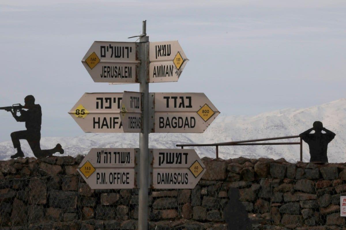 Una vista del Monte Bental en los Altos del Golán ocupados por Israel, el 20 de enero de 2019. [JALAA MAREY / AFP / Getty Images]