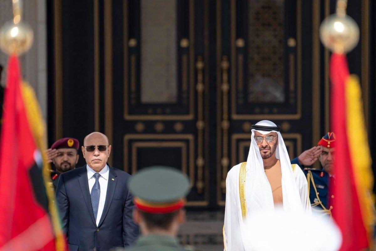 Mohamed bin Zayed con el Presidente mauritano