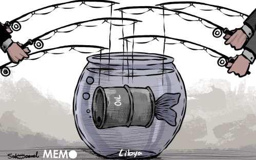 Libia, una guerra civil con olor a petróleo MEMO #Caricatura de @Sabaaneh