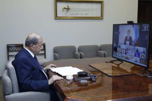 El presidente del Líbano se reúne con la delegación de…