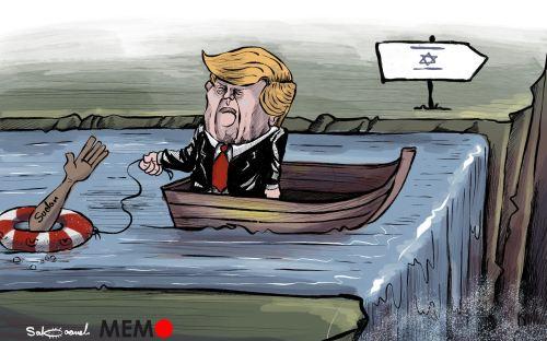 EEUU sacará a Sudán de su lista negra si acepta lazos con Israel MEMO #Caricatura de كاريكاتير سباعنة Sabaaneh Cartoon