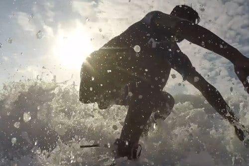 Cabalgando las olas en Gaza