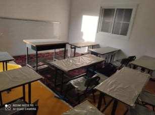 Una escuela palestina improvisada en la Ribera Occidental, 14 de enero de 2021 [Hanan Debek/Middle East Monitor]