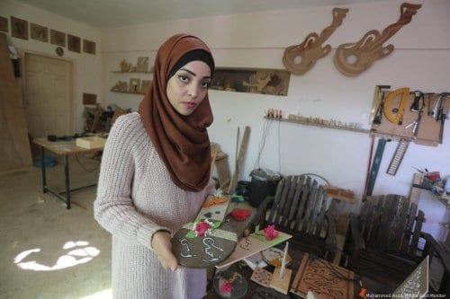 ¿La primera mujer carpintera de Gaza?