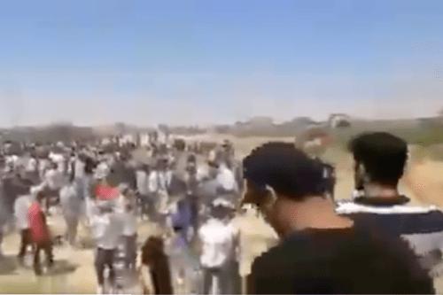 VIDEO: Miles de jordanos marchan hacia la frontera con Palestina