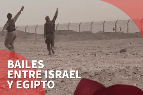 Baile entre soldados de Israel y Egipto