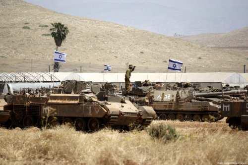 Las fuerzas israelíes realizan maniobras en el Valle del Jordán