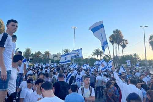 La marcha de la bandera israelí llega a la Puerta…