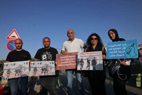 Informe: Israel comete 337 violaciones contra periodistas en Palestina sólo…
