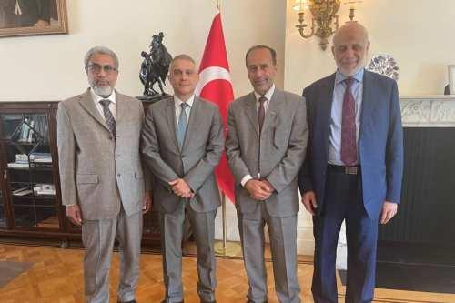 Una delegación palestino-musulmana se reúne con el embajador turco en…