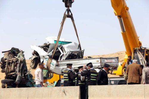 12 personas mueren en un accidente de tráfico en Egipto