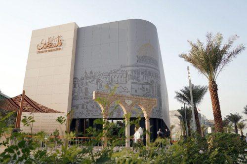 El gobernante de Dubai visita el pabellón de Palestina en…