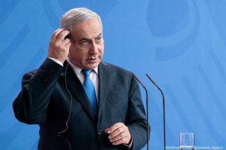 Primeiro-Ministro de Israel Benjamin Netanyahu [Abdülhamid Hoşbaş/Agência Anadolu]