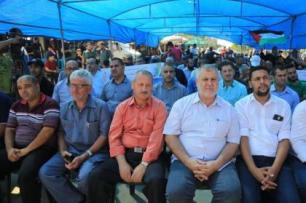 Jornalistas protestam contra violações e de Israel e cerco de Gaza. Em 3 de outubro de 2019 [Wafa Aludaini]