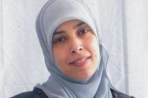 Ex-prisioneira palestina Ahlam Al-Tamimi, em 21 de março de 2017 [Twitter]