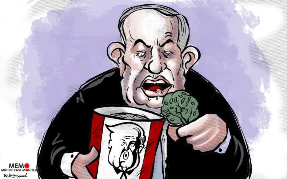 """""""Não perderei a oportunidade de anexar a Cisjordânia"""", diz Netanyahu [Sabaaneh/Monitor do Oriente Médio]"""
