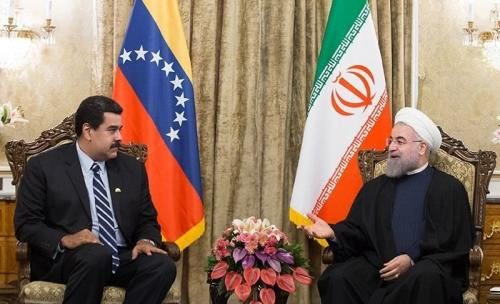 Encontro dos presidentes venezuelano e iraniano no Palácio Saabadad. 23 de novembro de 2015. [Hossein Zohrevand/Wikipedia]