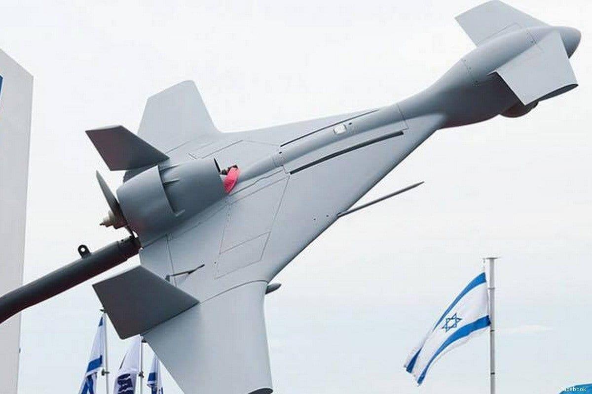 """Modelo do drone SkyStriker da Elbit Systems de Israel, apelidado de """"drone suicida"""" [Facebook]"""
