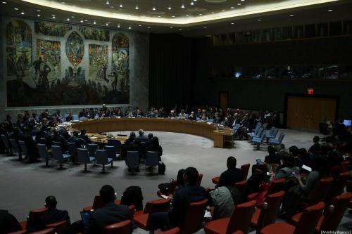 Votação da resolução da ajuda à Síria nas Nações Unidas Conselho de Segurança em Nova York, EUA, em 10 de janeiro de 2020. (Tayfun Coşkun/Agência Anadolu)