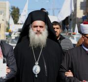 """""""Os palestinos não levantarão a bandeira branca"""", diz arcebispo Atallah Hanna"""