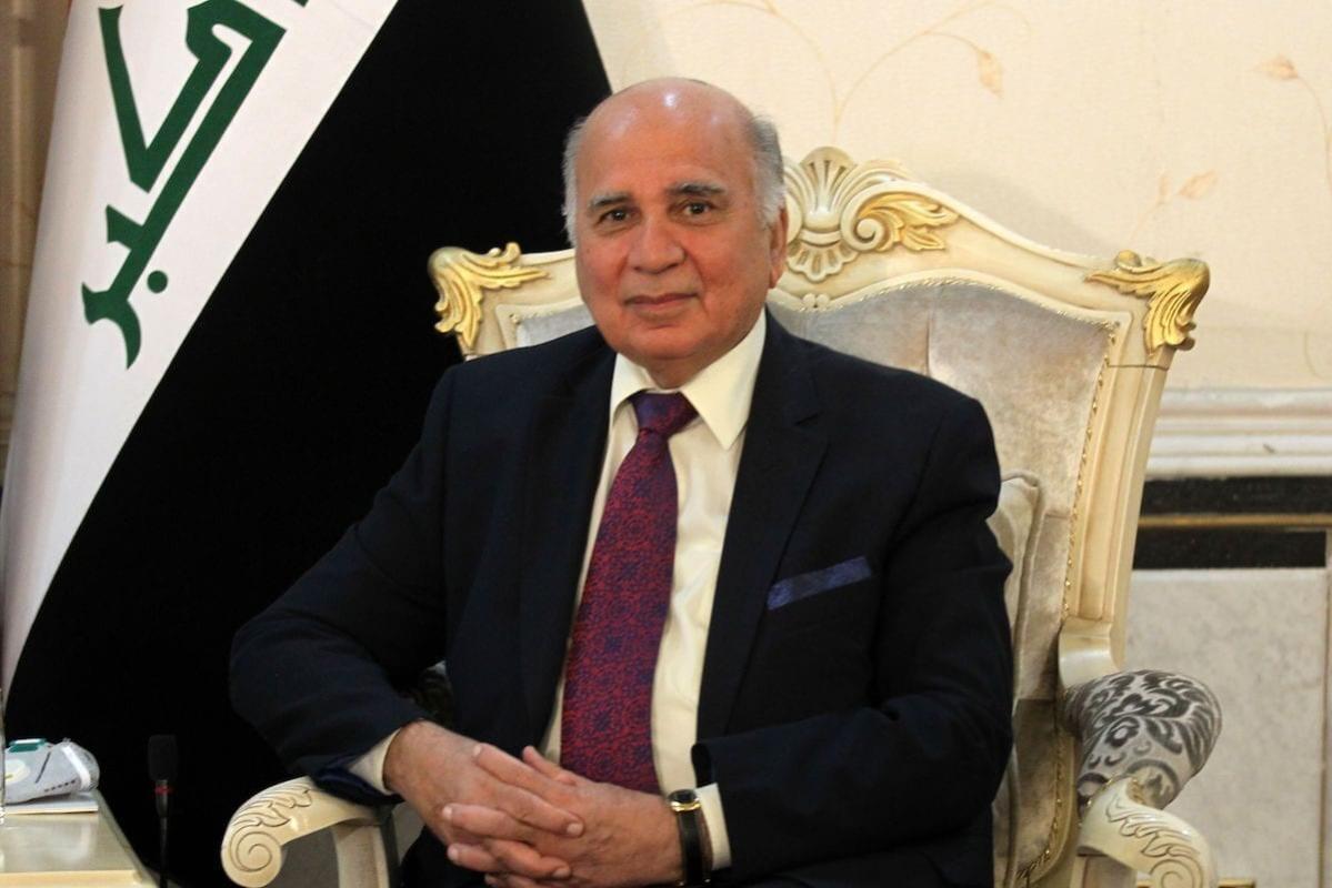 Ministro de Relações Exteriores do Iraque Fuad Hussein na capital Bagdá, 14 de junho de 2020 [Ahmad Al-Rubaye/AFP/Getty Images]