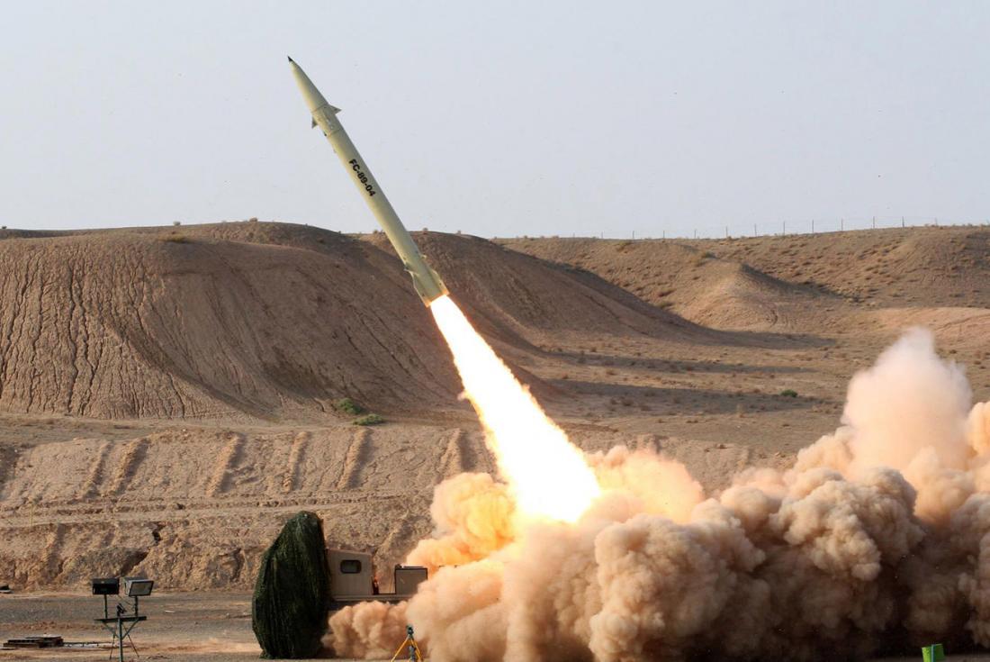 Míssil iraniano, 23 de julho de 2017 [Vahid Reza Alaei/Ministério da Defesa do Irã]