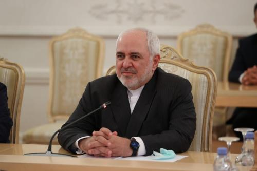 Ministro das Relações Exteriores do Irã Mohammad Javad Zarif em Moscou, Rússia, em 21 de julho de 2020 [Ministério das Relações Exteriores/ Agência Anadolu da Rússia]