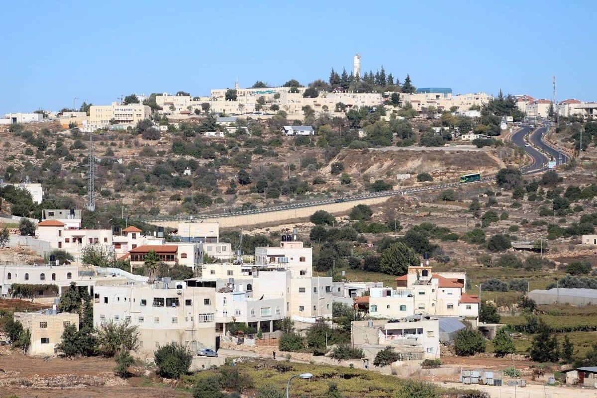 Assentamento israelense na Cisjordânia, 19 de novembro de 2019 [Mosab Shawer/Apaimages]