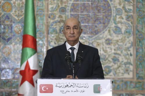 Presidente argelino Abdelmadjid Tebboune em Argel, Argélia, em 26 de janeiro de 2020 [Erçin Top / Agência Anadolu]