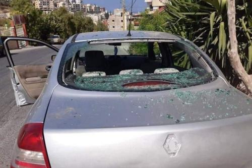 Ataque com carro-bomba atingiu Bilal Ghali, membro do Hamas no Líbano , 7 de agosto de 2020 [RoolaRoola4 / Twitter]