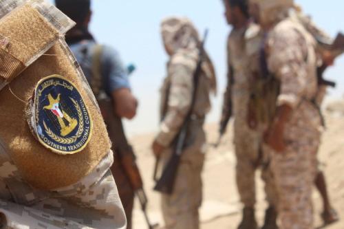 Combatentes do Conselho de Transição do Sul (STC) na província de Abyan no sul em 12 de maio de 2020 [ Saleh Al-Obeidi/ AFP/ Getty Images]