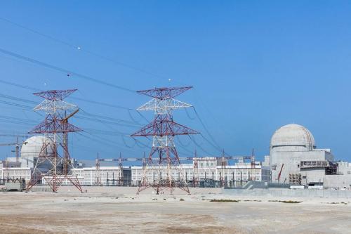 Usina de energia nuclear de Barakah, a primeira do mundo árabe, em Barakah, Emirados Árabes Unidos [Emirates Nuclear Energy Corporation]