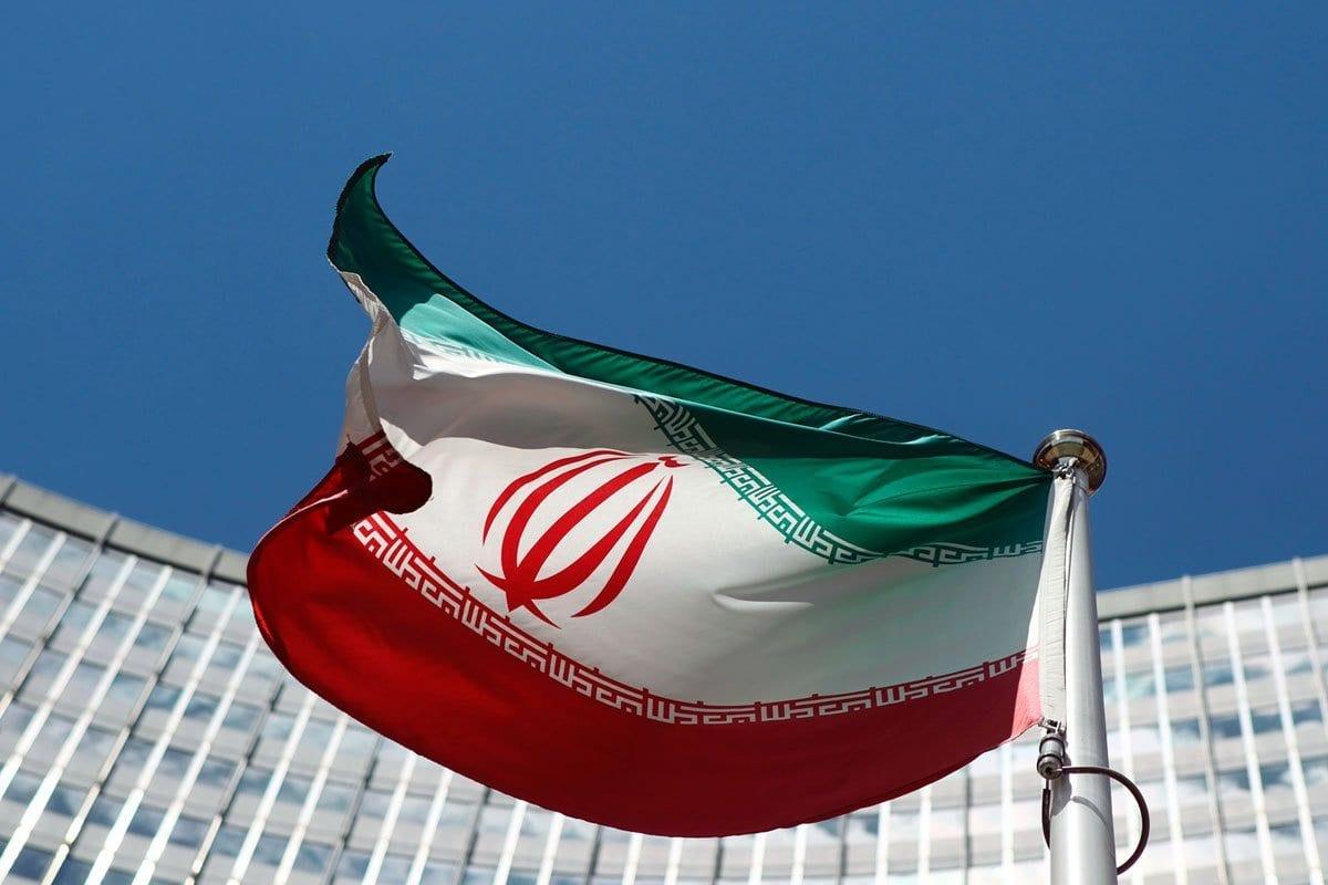 Bandeira nacional do Irã [foto de arquivo]