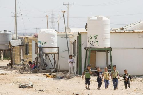 Campo de refugiados Za'atari da Jordânia, que abriga 80.000 refugiados sírios [Save the Children]