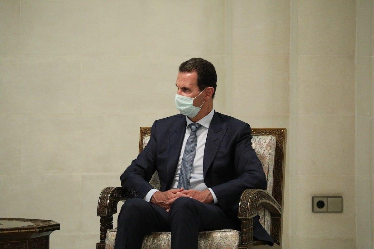 O presidente sírio Bashar Al-Assad em Damasco, Síria, 7 de setembro de 2020 [Ministério das Relações Exteriores da Rússia / Agência Anadolu].