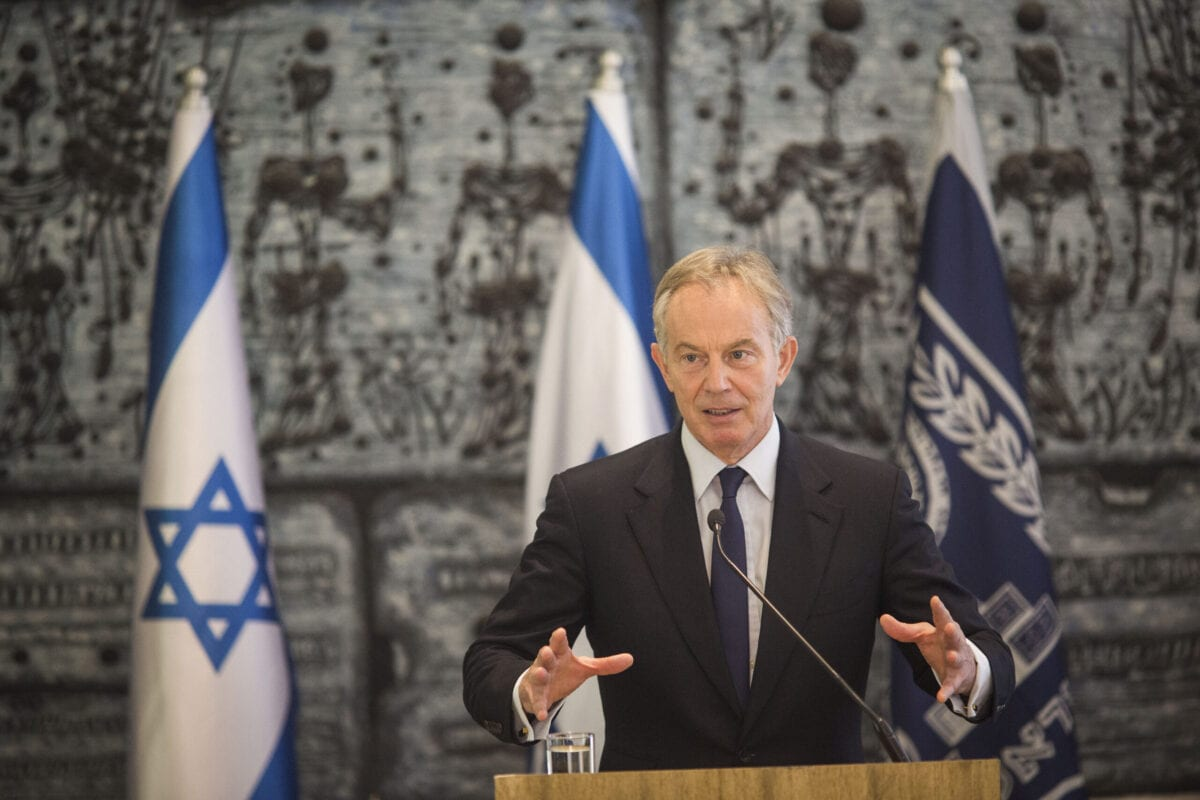 Ex-Primeiro-Ministro do Reino Unido Tony Blair em Jerusalém, 15 de julho de 2014 [Ilia Yefimovich/Getty Images]