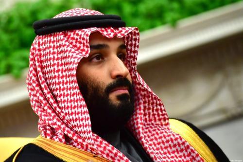 Príncipe-herdeiro da Arábia Saudita Mohammed Bin Salman, em Washington, Estados Unidos, 20 de março de 2018 [Kevin Dietsch-Pool/Getty Images]
