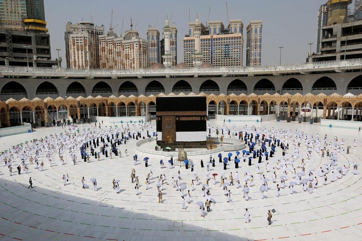 Peregrinos ao redor da Caaba durante o Hajj em Makkah, Arábia Saudita em 29 de julho de 2020 [STR / AFP / Getty Images]
