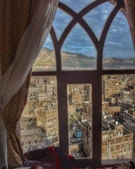 Vista do Hotel Burj Al-Salam [Malek Khushafa / Facebook].