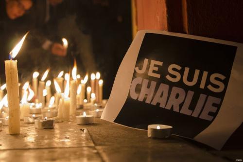 Vigília em solidariedade à revista Charlie Hebdo, após atentado terrorista, em 2015 [foto de arquivo]
