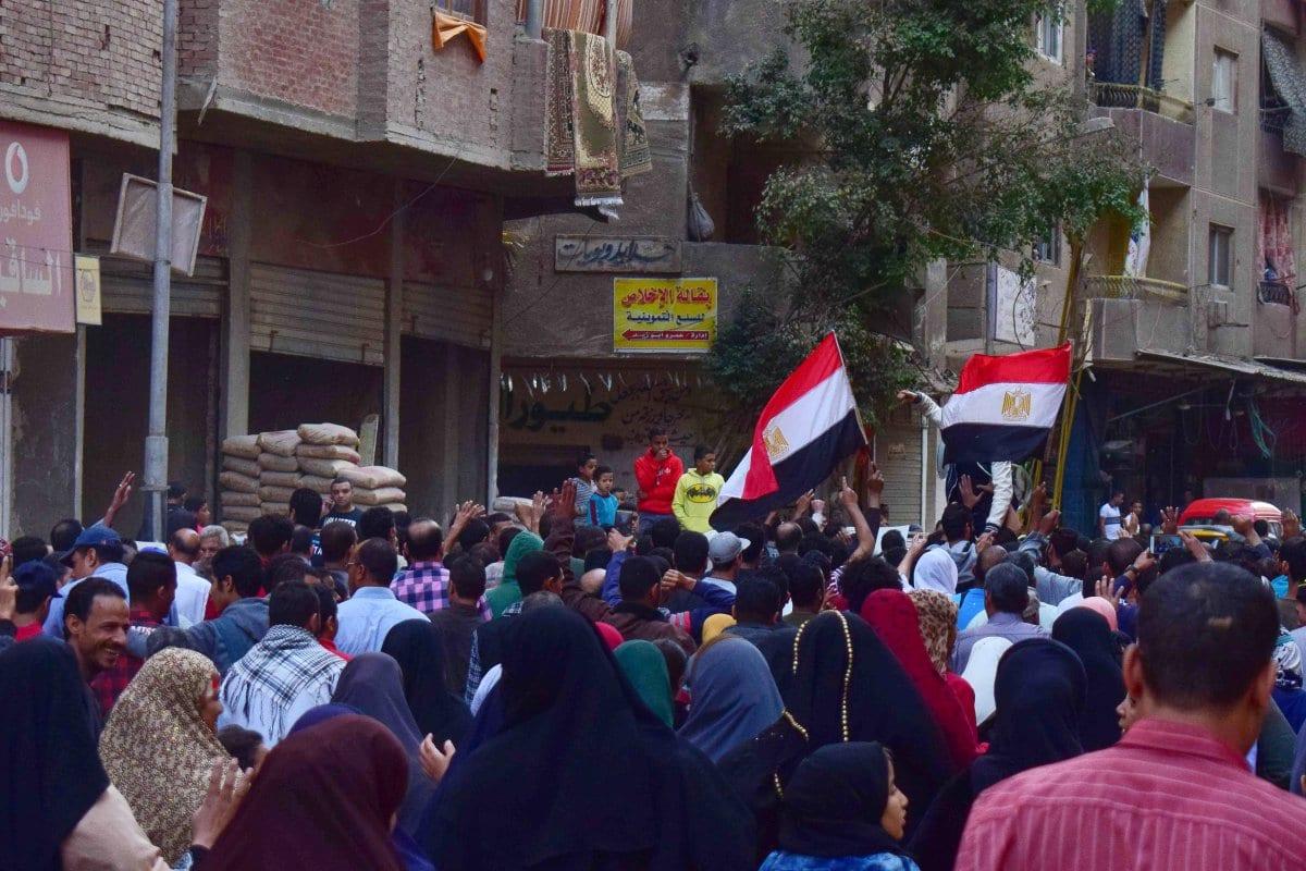 Apoiadores egípcios da Irmandade Muçulmana protestam no Cairo, Egito em 11 de novembro de 2016 [Apaimages]
