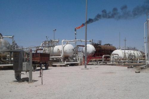Vista de um campo de petróleo na Síria [Adnan Alhusen /Agência Anadolu]